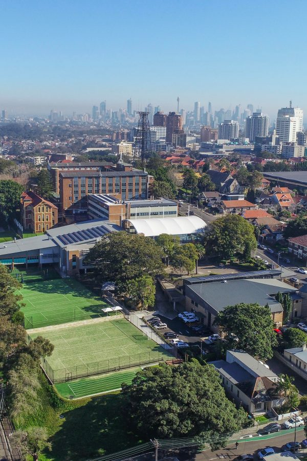 Arial view of Waverley College